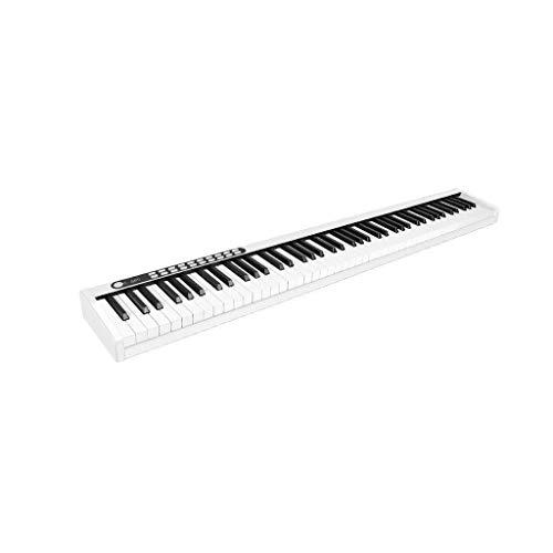 ZXL Digitalpiano 88-Tasten-Klavier Professionelle Version Erwachsenenpraxis Mobiles Tragbares Elektronisches Klavier Anfänger Bluetooth-Verbindung (Farbe: Schwarz) (Farbe :),Weiß