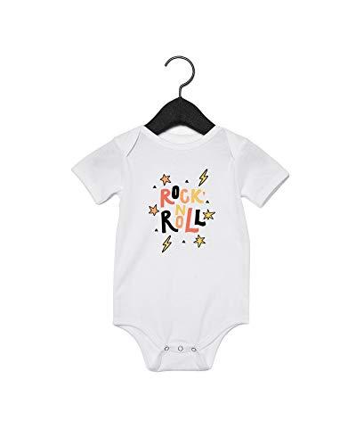 Rock N Roll - Body para bebé con cita de color blanco Blanco blanco 2 mes