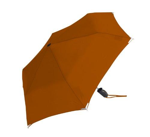 ShedRain Walksafe Automatic Open and Close Compact Umbrella,Mesa Orange,One Size