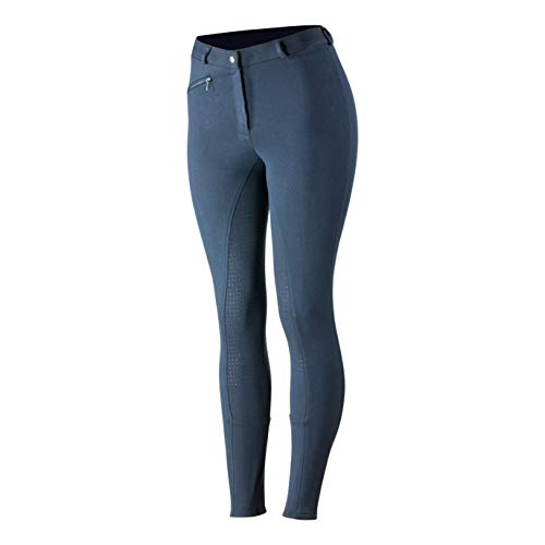 HORZE Active Women's Horse Riding Pants Breeches - Silicone Full Seat - Peacoat Dark Blue - Size 28