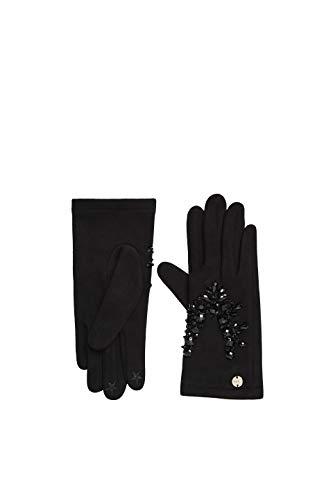 ESPRIT Accessoires Damen 119EA1R011 Handschuhe, Schwarz (Black 001), Medium (Herstellergröße: M)
