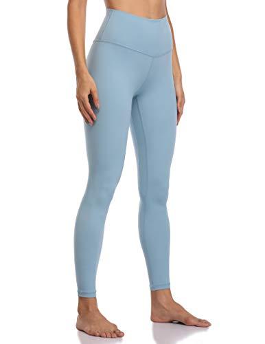 Colorfulkoala Women's Buttery Soft High Waisted Yoga Pants Full-Length Leggings (XL, Ice Blue)