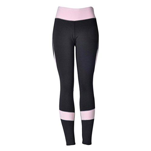 Homebaby A forma di Cuore Leggings Sportivi Donna - Maglia Eleganti Leggings Sport Opaco Yoga Fitness Spandex Palestra Pantaloni Leggins Push Up - Pantaloni Tuta Donna (M, Nero)