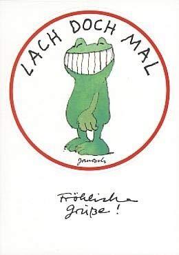Janosch StickerPostkarte Lach doch mal