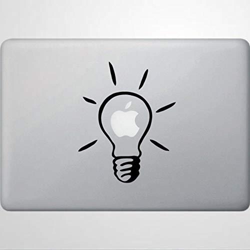Calcomanía de vinilo para ventana con diseño de bombillas, para Macbooks, ordenadores portátiles y más colores