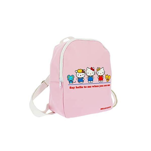 31gvdOplvEL. SS600  - Hello Kitty Essential - Mini mochila | piel sintética | correas ajustables | Hello Kitty & Friends Rosa