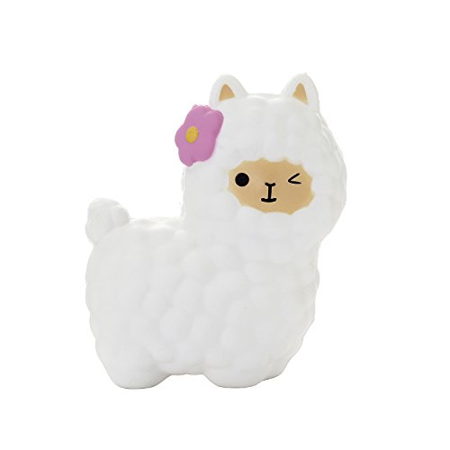TEEGOMO 65 White Alpaca Slow Rising Scented Jumbo Squishy Stress Relief Squeeze Decorations Toy