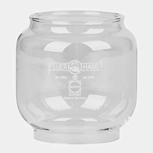 Glas transparent für Sturmlaternen 0023,0024,0027,0028,0029,0030,0036 und HEINZE Petroleumlampen 716015, 716017, Höhe 85mm, D unten 57 mm, D Oben 64 mm