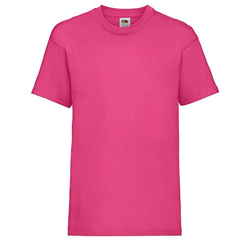 Fruit of the Loom - Kinder T-Shirt 'Valueweight T' / Fuchsia, 128