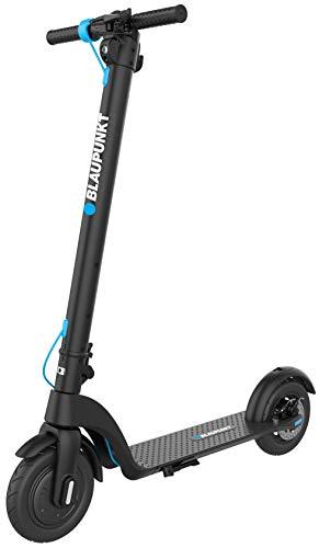 """Blaupunkt Erwachsene und Kinder Faltbarer Premium Elektro Scooter mit 8,5"""" Reifen LCD-Anzeige, wechselbaren Akku und 25 km/h Höchstgeschwindigkeit City Roller ESC808, Schwarz, one-Size"""