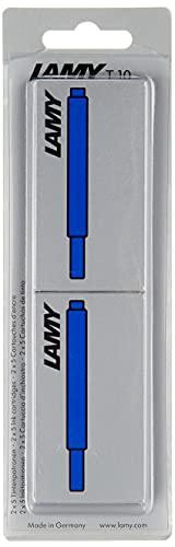 LAMY T10 Tintenpatrone 2er Set - Großraumpatronen in der Farbe blau für alle Lamy Patronenfüllhaltermodelle - Im Blister