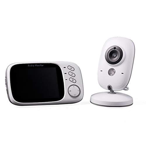 HIEHY babyfoon met camera, draadloze babymonitor, draadloze monitor, tweewegs-intercom-temperatuurweergave, nachtzicht, bewaking babyverzorging