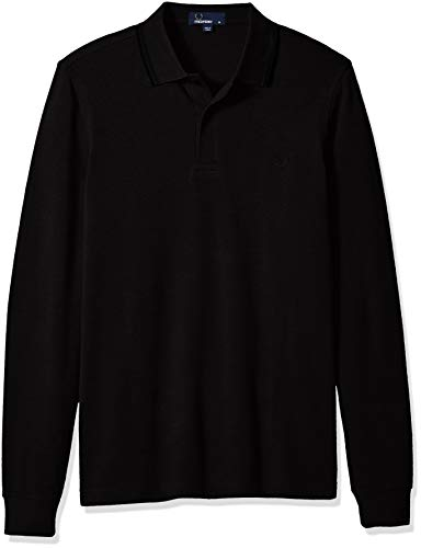 Fred Perry FP LS Twin Tipped Shirt Maglia, Black, S Uomo