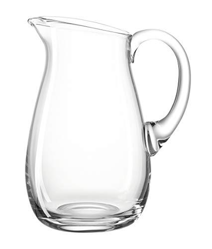 Leonardo Giardino Krug, handgefertigter Glas-Krug, spülmaschinengeeignete Wasser-Karaffe mit Henkel, 1750 ml, 010238