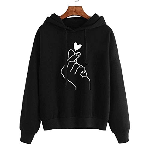 Damen Pullover Hoodie Lange Ärmel Kordelzug Lovely Sweatshirt Frühling, Herbst und Winter neu Loose Bequemer Outdoor Sport Mode Casual Daily Wear Streetwear S