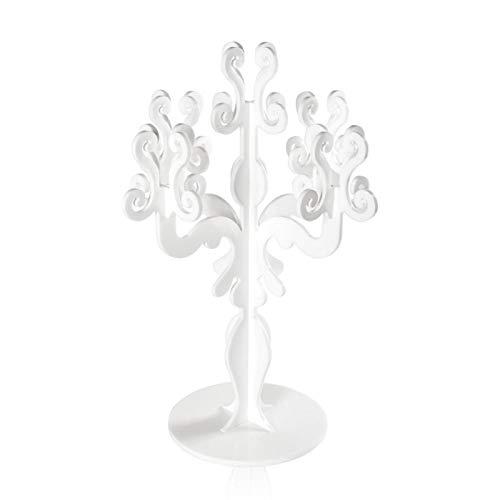 iPLEX - Candelabro Linea Vittoriale Design Rinascimentale con 5 Braccia in plexiglass Bianco opalino Dim. 73x46x46 cm - arredam