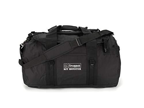 Snugpak | Original Kitmonster 120L | Holdall | 600D Polyester |Heavy Duty (Black, 120L)