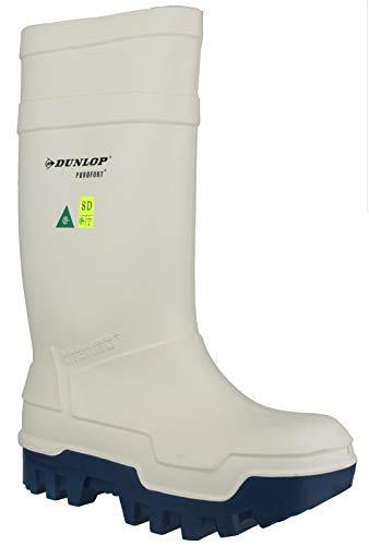 Dunlop Dunlop Purofort Thermo + mit Stahlkappe, Thermoisolierung bis - 40 °C Gummistiefel in weiß, 7