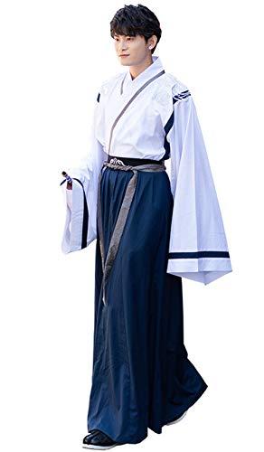 Susichou Hennefu geborduurd Wide-Sleeved Large-Sleeved Shirt niet-historische jas herenkleding prestatiekleding Martial Arts Graduation Foto