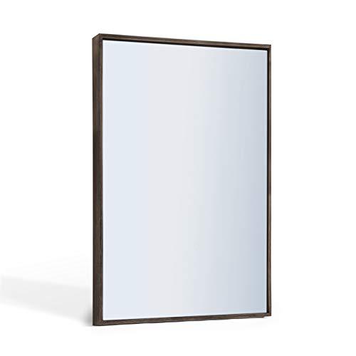 ANDY STAR Farmhouse Bathroom Mirror, Large Rustic Walnut Wall Mirror | 22-x30-Inch -