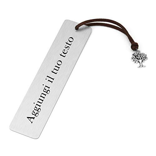 Jovivi Personalizzato Segnalibro in Acciaio Inxo Duro con Fiocco Albero della Vita Croce Bookmark Cinesi