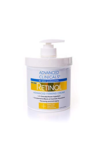 Advanced Clinicals Retinol Cream. Spa Size for Salon Professionals. Moisturizing Formula Penetrates Skin to Erase the Appearance of Fine Lines & Wrinkles. Fragrance Free. 16oz by Advanced Clinicals