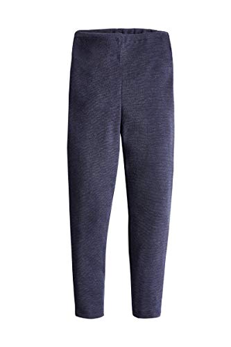 con-ta thermo-kinderbroek, warme leggings van natuurlijk katoen, thermo-ondergoed, kinderkleding, marine, maat: 104-152