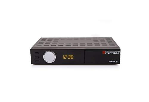 Opticum Red AX HD Sloth S1, DVB-S/S2 - Receptor de satélite Digital y televisión por IP con función PVR (HDTV 1080p, HDMI, SCART, IPTV, LAN, USB, Pantalla), Color Negro