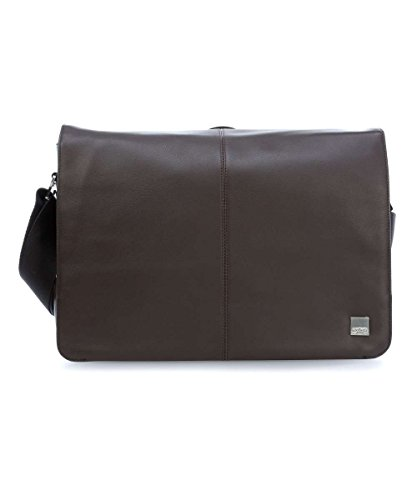 Knomo 154-112-BRN 'Bungo' Expandable Messenger Bag for 15.6-Inch Laptop - Brown