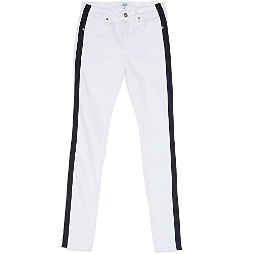Sixth June Jeans Satinband, Schwarz / Weiß Gr. 36 DE/XL, weiß