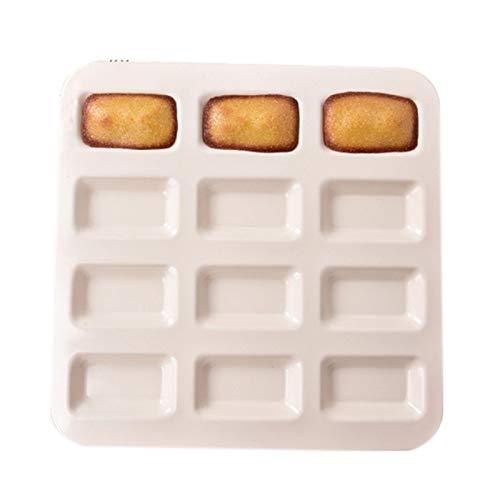 Bakeware Mini Muffin Pastel para hornear Pan para hornear 12 Agujeros Molde de la magdalena No Stick Baking Platos de acero al carbono Bandejas de horno Herramienta de pastelería