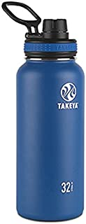Takeya Originals Vacuum-Insulated Stainless-Steel Water Bottle, 32oz, Navy