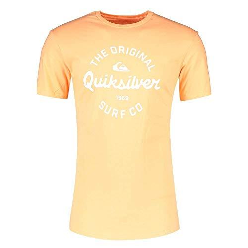 Quiksilver Eye On The Storm - T-shirt pour Homme T-shirt Homme, Orange (Coral Sands), FR : L (Taille Fabricant : L)