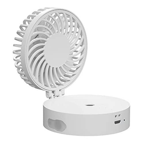 YDL Mini Mini Mini Humidificador USB De Ventilador De Mano con LED Colorido (Color : White)