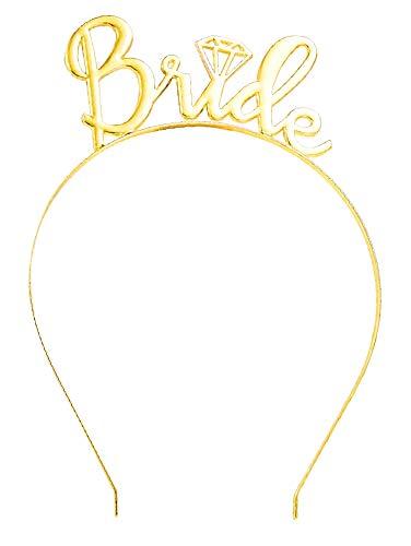 Vrijgezellenfeest haarband - bruid belofte - toekomstige bruid - gadget - plezier - feest - grap - goud - origineel cadeau idee
