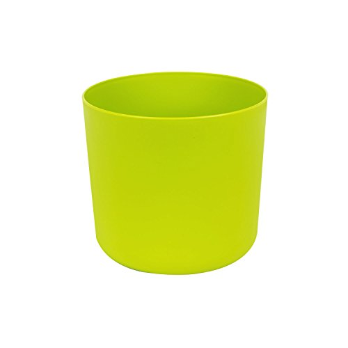 Classique cache-pot en plastique Aruba 15 cm en vert clair couleur