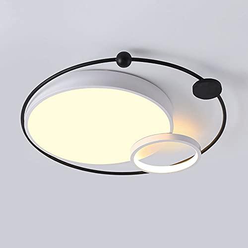 HUJUNM Luz Retro Europea Luz de iluminación de Lujo Luz de Techo de Tres Colores Moderno Minimalista Minimalista Lámpara de Techo Redonda Ultra Delgada Flush Montaje Lámpara 3000K-6000K