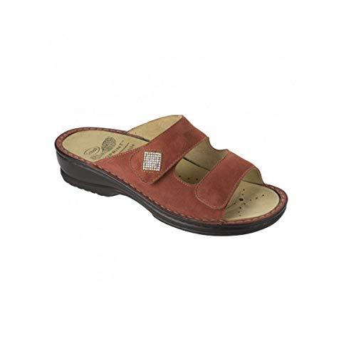 Scholl Ciabatta Pantofola Donna Atria In camoscio Rosso F26611-1053-400