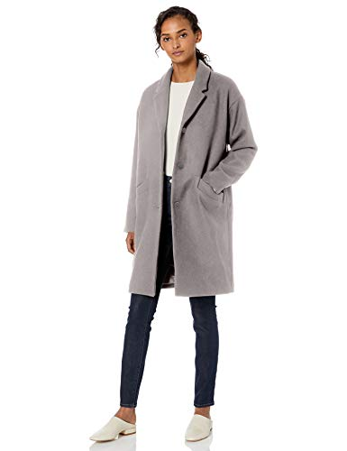 Daily Ritual Wool Cocoon Coat outerwear, Grau (Fischgrätmuster), US S (EU S - M)