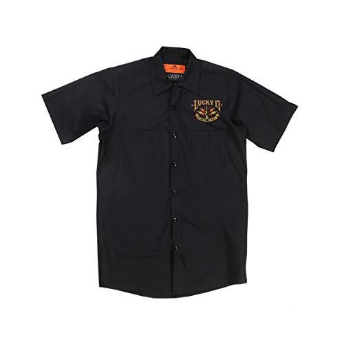 Lucky 13 Herren Kurzarmhemd Amped, Größe:XL, Farbe:Black