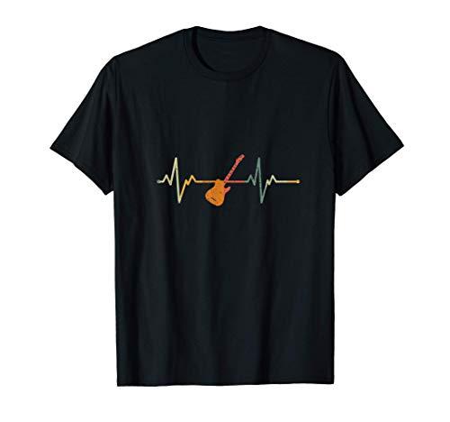 Guitarrista Regalo Latido Del Corazn Guitarra Elctrica Camiseta
