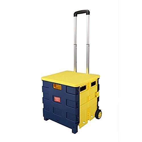 JIAN trolley Opvouwbare boodschappentrolley cart, opvouwbare laarzen wagen, kisten opvouwbaar voor supermarkt Grocery Shopping & Camping & vervoer, als opbergdoos & transport van gereedschap en leraar