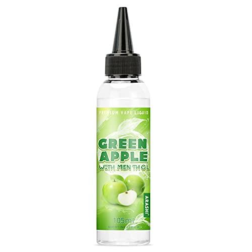 ARASHI 電子タバコ リキッド グリーンアップル メンソール 115ml 大容量 ベープ リキッド ミントメンソール10ml付き 自由でDIY可能 VAPE各種対応