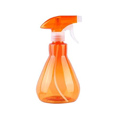 KongJies - Botella de spray de plástico vacía para casa, oficina, jardín, color naranja