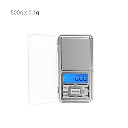 10g 100g 1kg 0.1g / 0.01g / 0.001g digitale elektronische weegschaal Weegschaal Keukenweegschaal Gram Mechanische weegschaal, 500gx0.1g