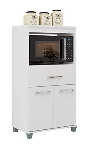 SZ Suarez Mueble de Cocina para microondas Lusaka Color Blanco 2 Puertas 1 cajón alacena Auxiliar 115x60x31 cm