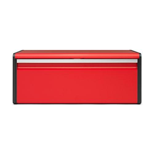 Brabantia 484025 Boîte à Pain avec Couvercle Acier Passion Red