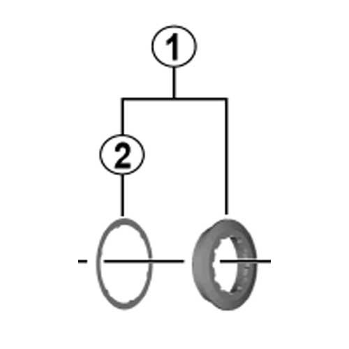 Shimano Anello Chiusura + Distanziale Cs-M8000 Deore Xt Sparepart