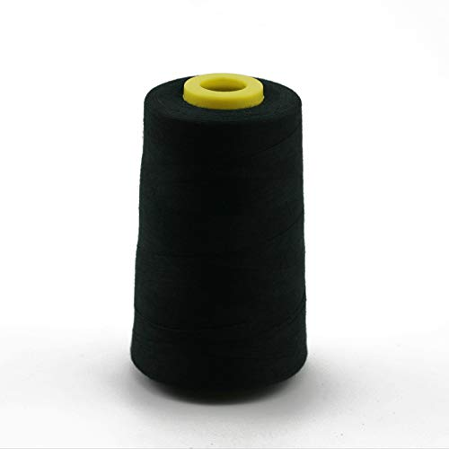 100% Polyester Sewing Thread TFO Quality 120 Count (40s/2) 5000 Yard/pc Black for Sewing Machine