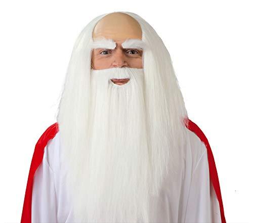 Weißen Bart und Perücke Druide Priester von den alten Kelten Magier santone